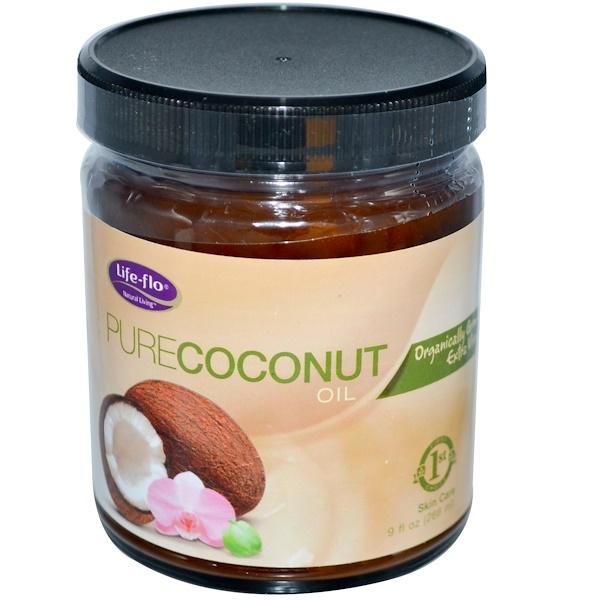 Life-flo, オーガニック、ピュアココナッツオイル、スキンケア、9 液体オンス(266 ml)