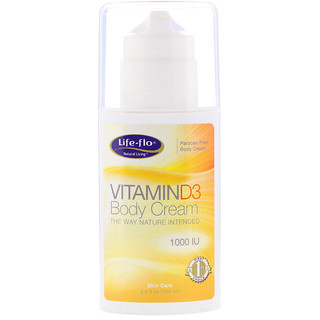 Life-flo, Vitamin D3 Body Cream, 3.5 fl oz (104 ml)