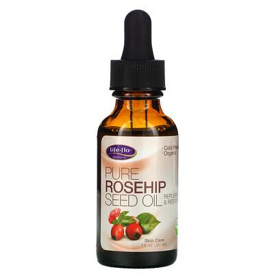 Life-flo чистое масло семян шиповника, уход за кожей, 30мл (1унция)