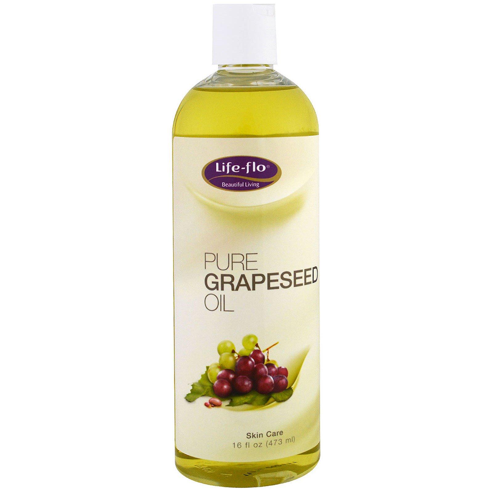 Life Flo Health, Чистое масло из виноградных косточек, 16 жидких унций (473 мл)