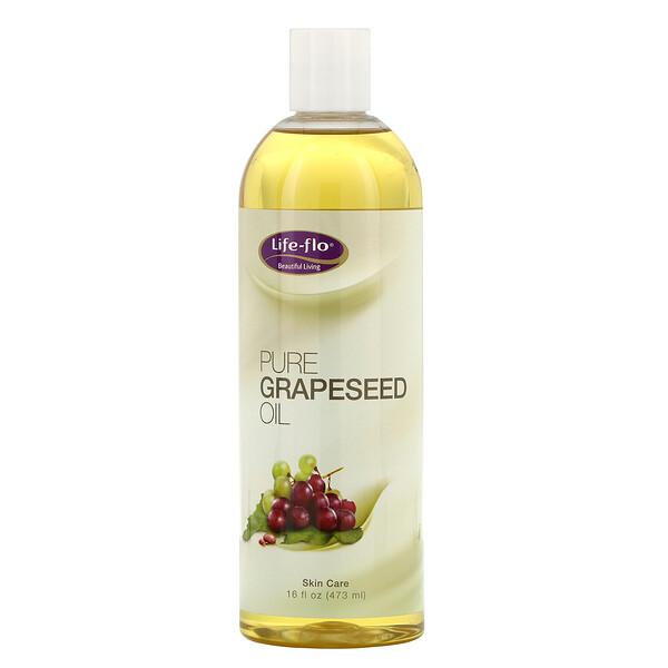 Pure Grapeseed Oil, 16 fl oz (473 ml)