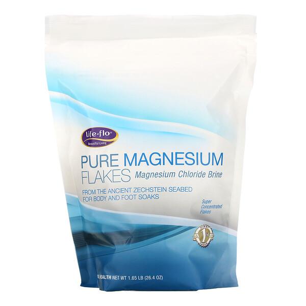 Life-flo, Pure Magnesium Flakes, Magnesium Chloride Brine, 1.65 lb (26.4 oz)