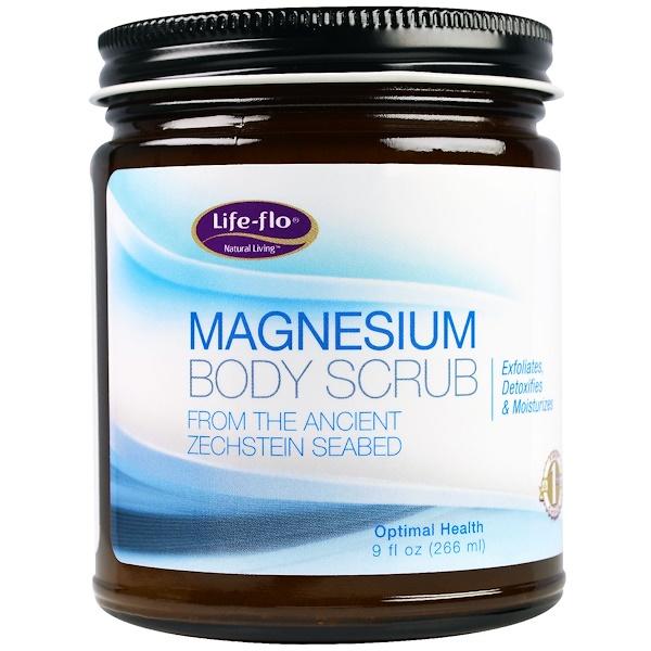Life Flo Health, Скраб для тела с магнием, 9 жид.унции(266 мл)