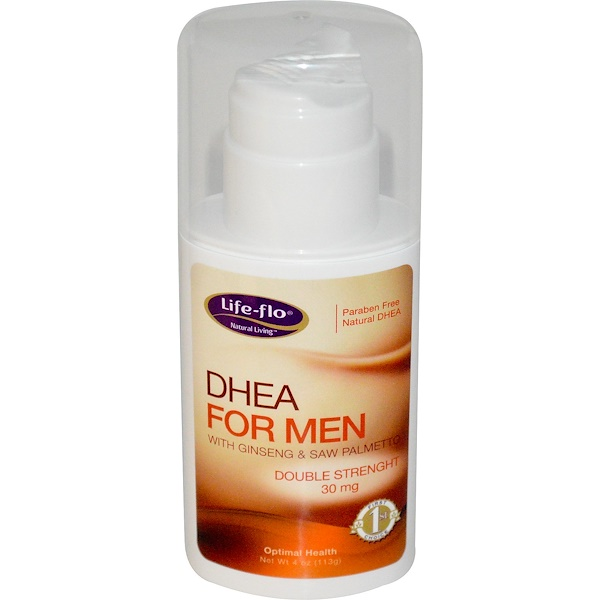 Life Flo Health, 男士外用DHEA藥膏, 4 盎司 (113 克)