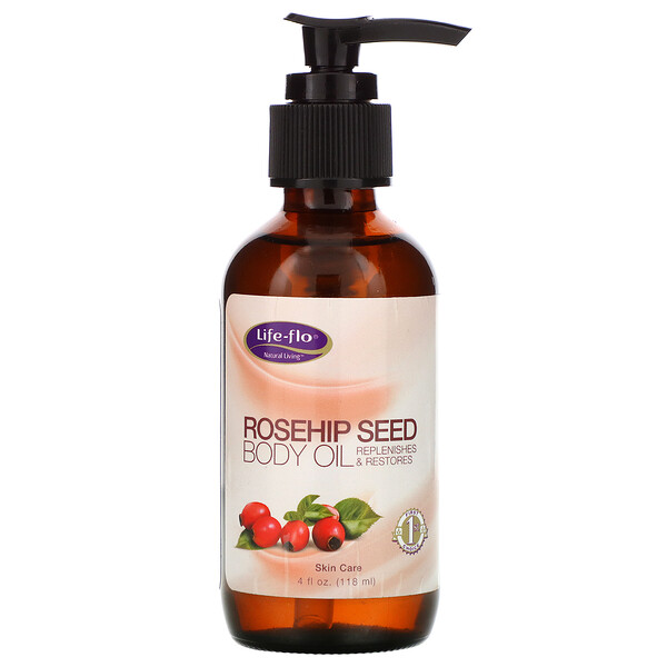 Rosehip Seed Body Oil, Skin Care, 4 fl oz (118 ml)