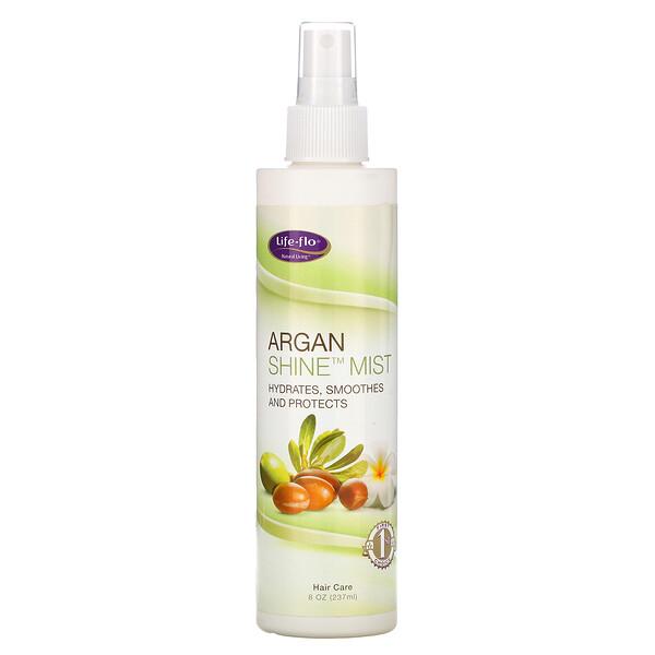 Life-flo, Argan Shine Mist, Light Jasmine Vanilla Scent, 8 oz (237 ml)