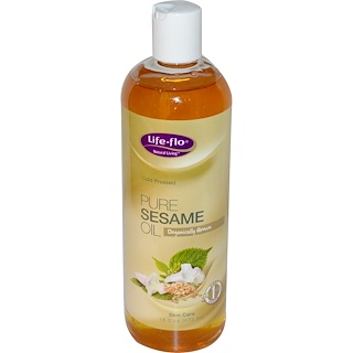 Life-flo, Pure Sesame Oil, Skin Care, 16 fl oz (473 ml)