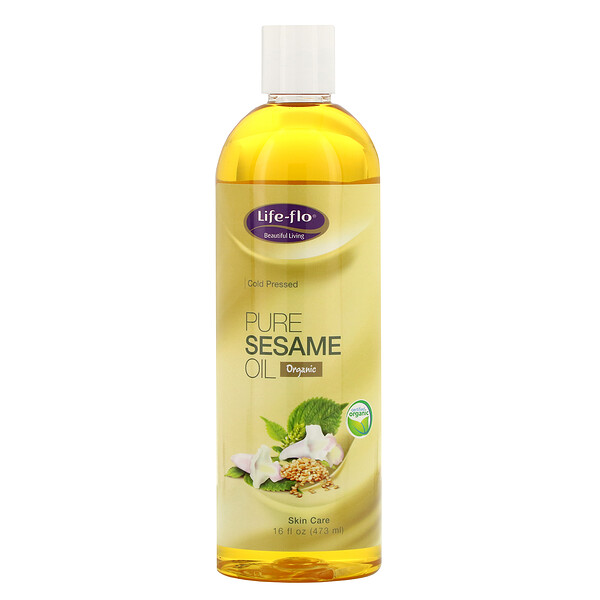 Pure Sesame Oil, Skin Care, 16 fl oz (473 ml)