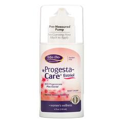 Life-flo, Progesta-Care 雌三醇身體乳霜,4盎司(113.4克)