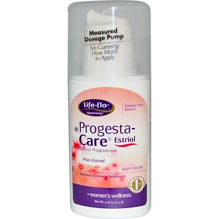 Life Flo Health, Progesta-Care Estriol, Body Cream, 4 oz (113.4 g)