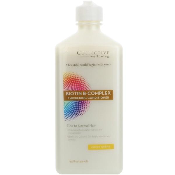 Life-flo, Biotin B-Complex Thickening Conditioner, Fine to Normal Hair, Lemon Creme, 14.5 fl oz (429 ml) (Discontinued Item)