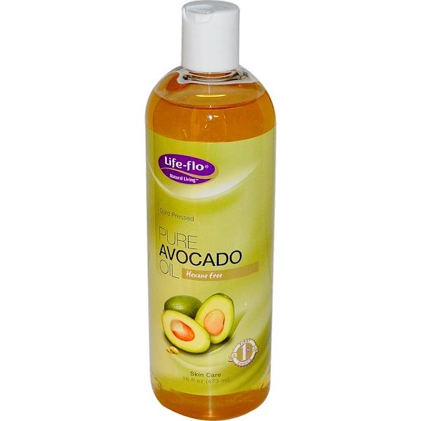 Life Flo Health, Pure Avocado Oil, Skin Care, 16 fl oz (473 ml)