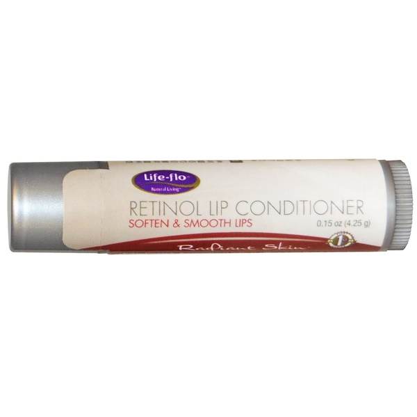 Life Flo Health, Retinol Lip Conditioner, Radiant Skin, 0、15 oz (4、25 g)