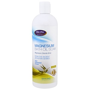 Лайф Фло Хэлс, Magnesium Bath Oil Soak, Magnesium Chloride Brine, Eucalyptus, 16 fl oz (473 ml) отзывы