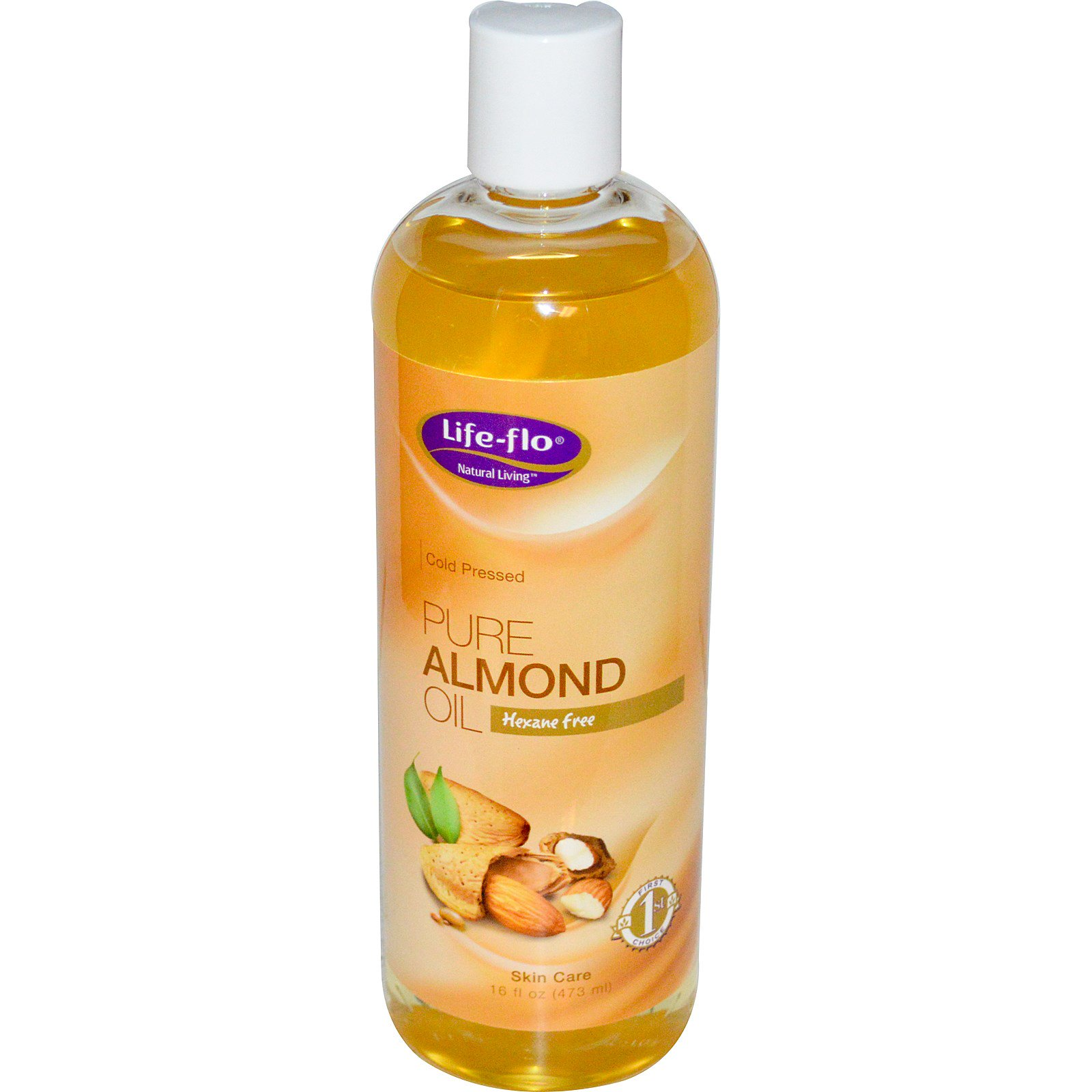 Life Flo Health, Чистое миндальное масло для ухода за кожей, 473 мл
