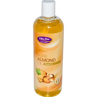 Life-flo, Óleo de Amêndoas Puro, Cuidados da Pele, 473 ml (16 fl. oz)