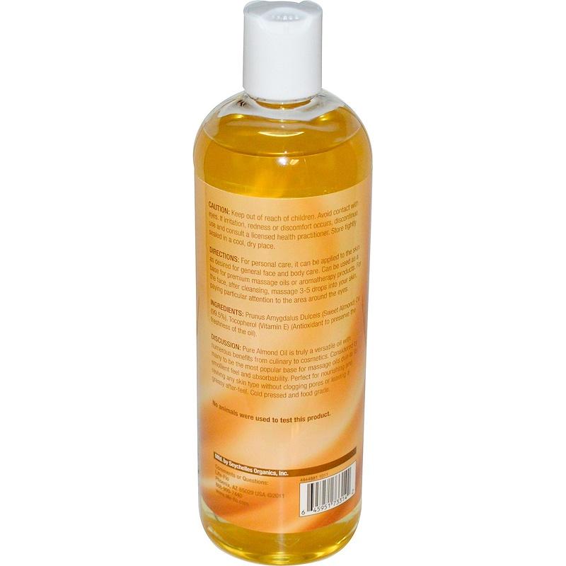 Life-flo, Pure Almond Oil, Skin Care, 16 fl oz (473 ml) - photo 1