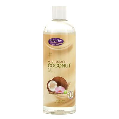 Купить Life-flo Средство для ухода за кожей, Фракционированное кокосовое масло, 16 жидких унций (473 мл)