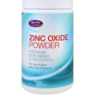 Life-flo, Zinc Oxide Powder, Premium Non-Nano & Uncoated, 16 oz (454 g)