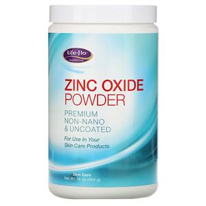 Лайф Фло Хэлс, Zinc Oxide Powder, Premium Non-Nano & Uncoated, 16 oz (454 g) отзывы покупателей