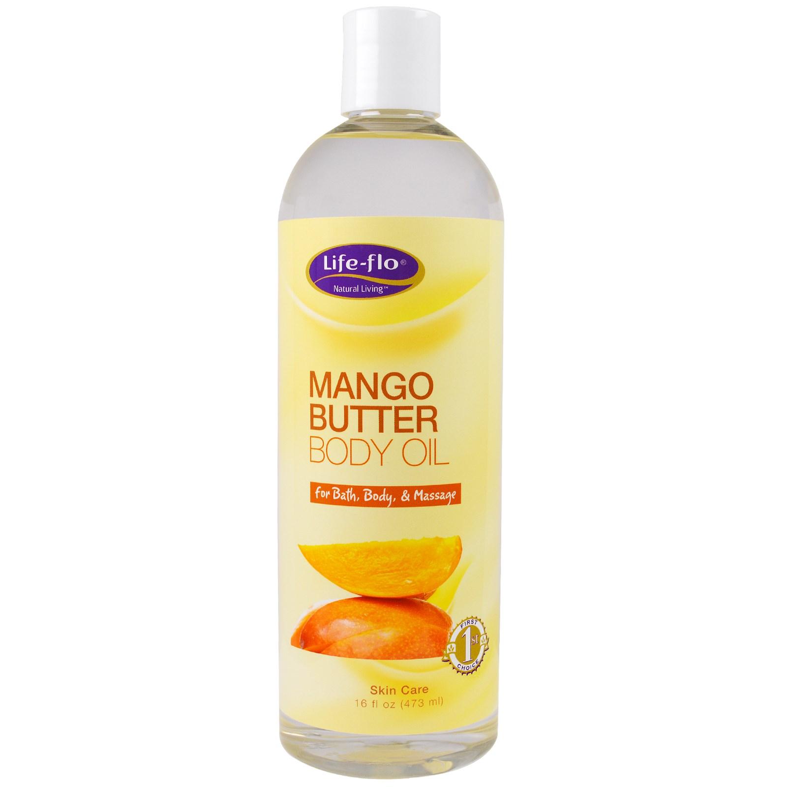 Life Flo Health, Масло манго для тела, 16 жид.унций (473 мл)