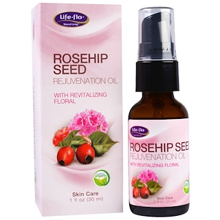 Life Flo Health, Rosehip Seed Rejuvenation Oil with Revitalizing Floral, 1 fl oz (30 ml)