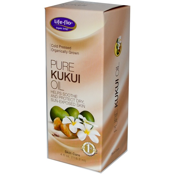 Life-flo, Pure Kukui Oil, Skin Care, 4 fl oz (118.3 ml)