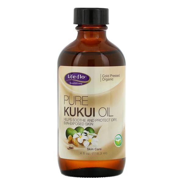 Life-flo, Pure Kukui Oil, Skin Care, 4 fl oz (118.3 ml)