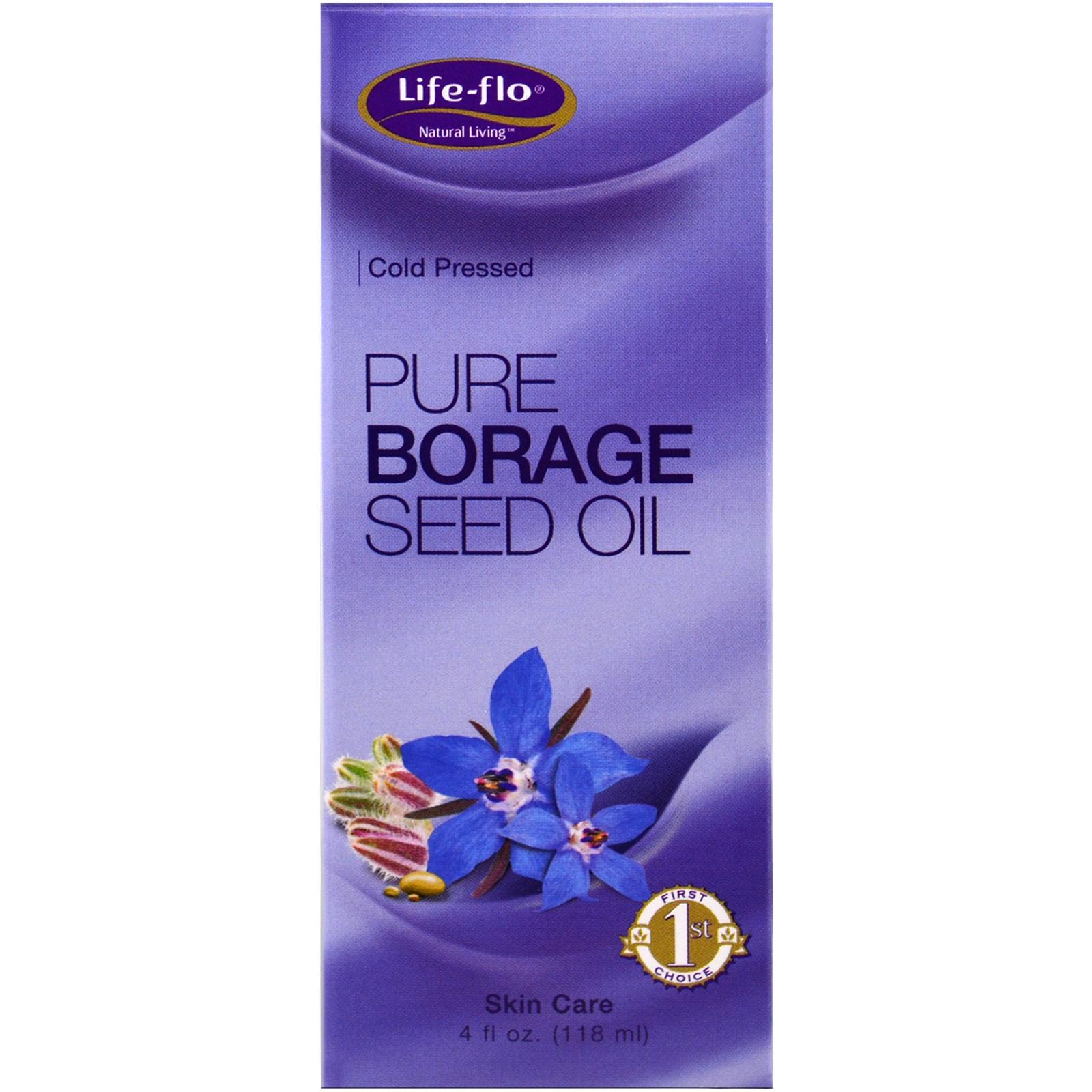 Life Flo Health, Чистое масло семян бурачника, 4 жидких унции (118 мл)