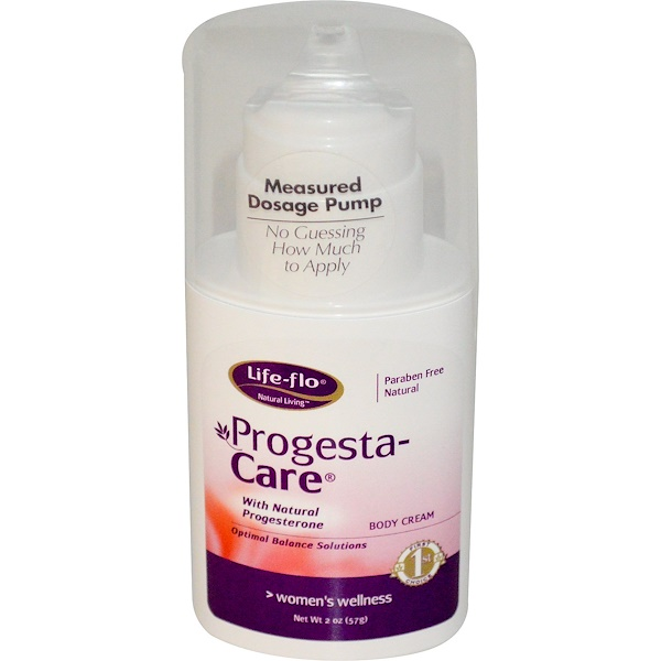 Life-flo, Progesta-Care, Body Cream, 2 oz (57 g) (Discontinued Item)
