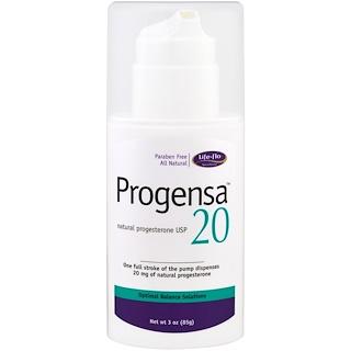Life-flo, Progensa, Natural Progesterone USP 20, 3 oz (85 g)
