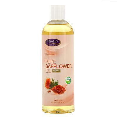 Купить Life-flo Чистое сафлоровое масло, для ухода за кожей, 16 жидких унций (473 мл)