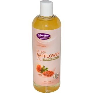 Life Flo Health, Чистое сафлоровое масло, для ухода за кожей, 16 жидких унций (473 мл)