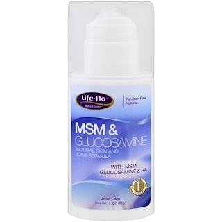 Life Flo Health, MSM & Glucosamine Cream, 3 oz (85 g)