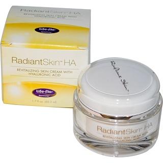 Life-flo, Сияющая кожа ХА, восстанавливающий кожу крем с гиалоуроновой кислотой, 1,7 жидк. унц. (50,3 мл)
