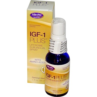 Life Flo Health, IGF-1 Plus, Liposome Sublingual Spray, 1 fl oz (30 ml)