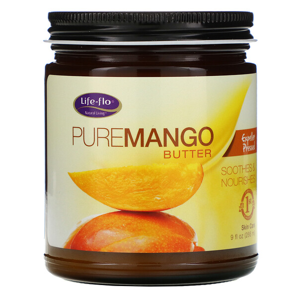 Life-flo, PureMango Butter, Expeller Pressed, 9 fl oz (266 ml)