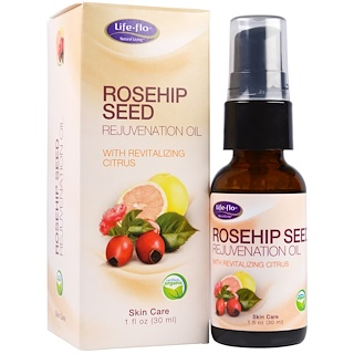 Life-flo, Rosehip Seed Rejuvenation Oil with Revitalizing Citrus, 1 fl oz (30 ml)