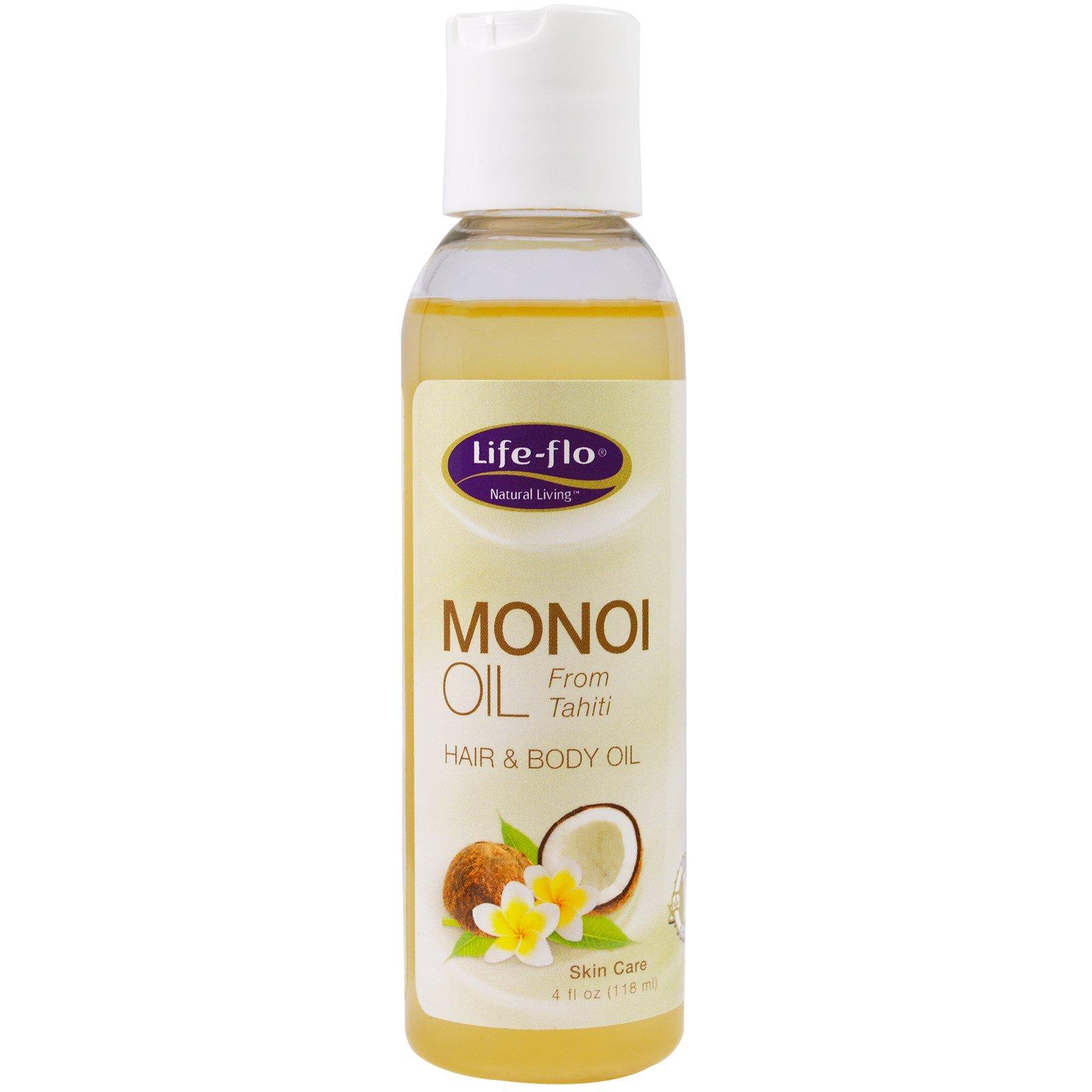 Life Flo Health, Масло монои для волос и тела, 4 жид.унции(118 мл)