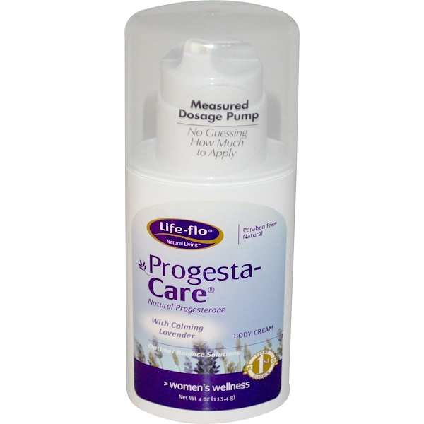 Progesta-Care Body Cream, with Calming Lavender, 4 oz (113.4 g)