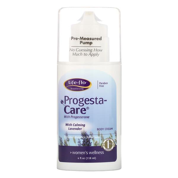 progesta身體護膚霜,含舒緩薰衣花草,4盎司