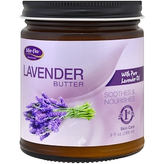 Life Flo Health, Lavender Butter, with Pure Lavender Oil, 9 fl oz (266 ml)