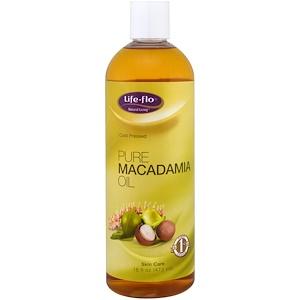 Life Flo Health, Чистое масло макадамии, 16 жидк. унц. (473 мл)