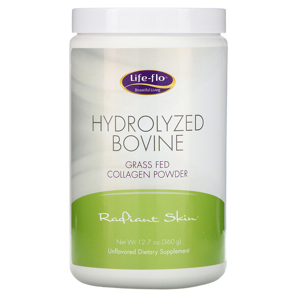 Hydrolyzed Bovine, Grass Fed Collagen Powder, Unflavored, 12.7 oz (360 g)