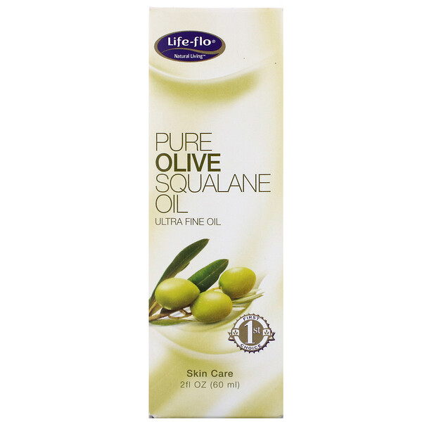 Life-flo, Pure Olive Squalane Oil, 2 fl oz (60 ml)