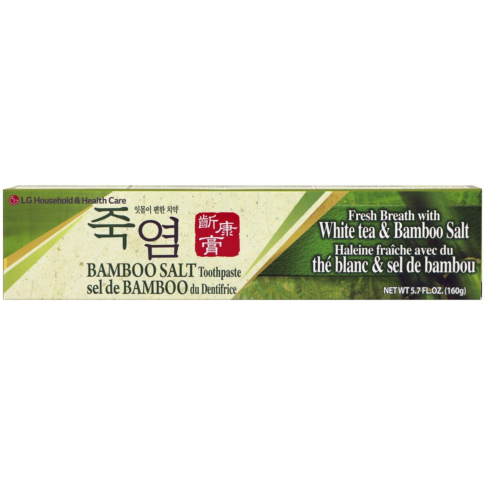 LG Household & Health Care, Bamboo Salt Toothpaste, 5.7 fl oz (160 g)