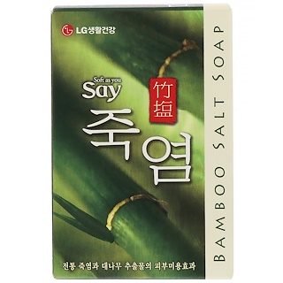 LG Household & Health Care, Bamboo Salt Soap, 100 g