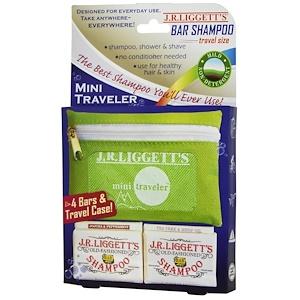ЖР Лиггетс, Bar Shampoo, Travel Size, 4 Bars & Travel Case отзывы покупателей