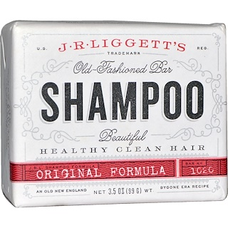 J.R. Liggett's, Old-Fashioned Bar Shampoo, Original Formula, 3.5 oz (99 g)