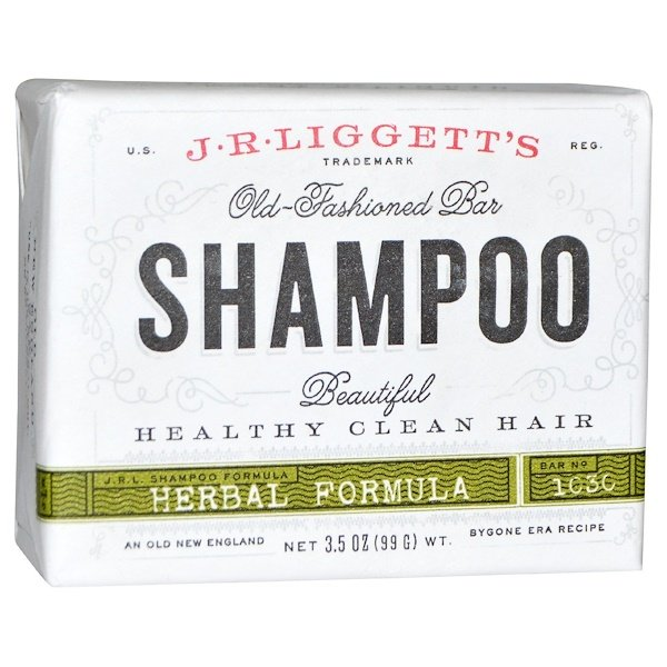J.R. Liggett's, Old-Fashioned Bar Shampoo, Herbal Formula, 3.5 oz (99 g)